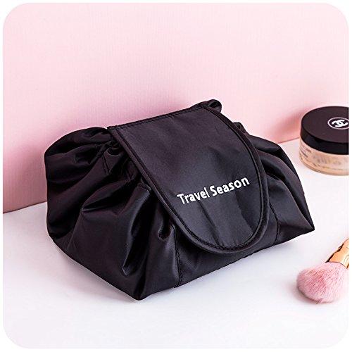 LULAN Großen faulen Leute Make-up Bag portable Rauch Garn Zulassung Pauschalreisen einfachen Kosmetik Tasche waschen Paket, 24 * 18 * 10 cm, schwarz