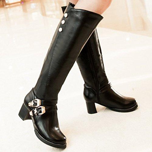 AIYOUMEI Women's Classic Boot Black ZIAmmrXe3L