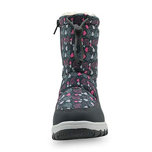 3b3a6031598af  snofiy  スノーブーツ 女の子 ブーツ キッズ ジュニア 雪靴 ひもが付け 可愛い 防水