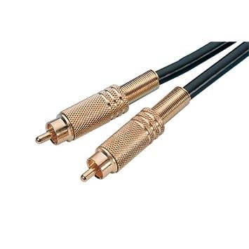 Monacor de Audio y vídeo coexion-Cable de 1 m cable coaxial RG 59/