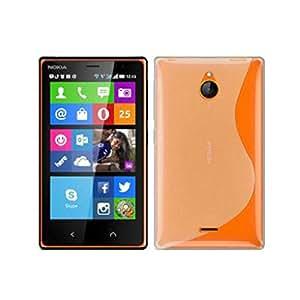 Funda de silicona duro color blanco transparente para Nokia X2