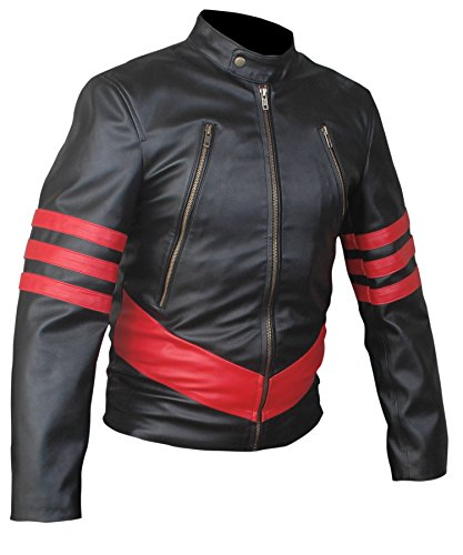 F&H Boy's X-Men Origins Wolverine Jacket L Black - Wolverine Black Costumes