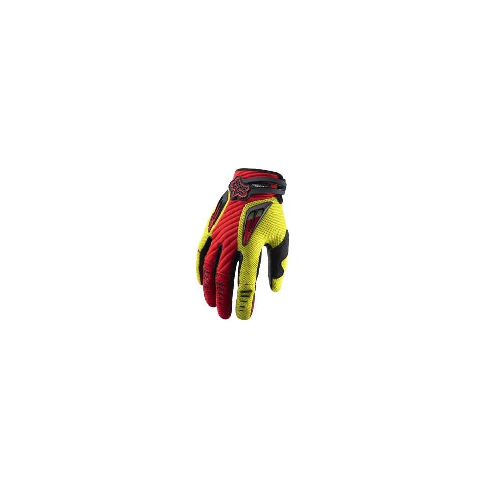 Fox Racing Platinum Gloves   10/Red/Yellow