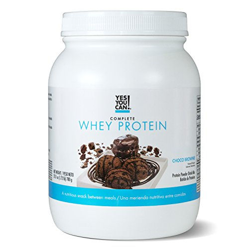 Yes You Can! Complete Whey Protein, a Nutritious Snack Between Meals, 15 Grams of Protein, Helps Lose Weight and Build Muscle, Batidos de Proteína Completo para Bajar de Peso - 1.72 Lb, ChocoBrownie