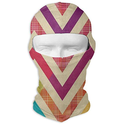 Balaclava Colorful Bright Chevron (2) Full Face Masks Motorcycle Neck -