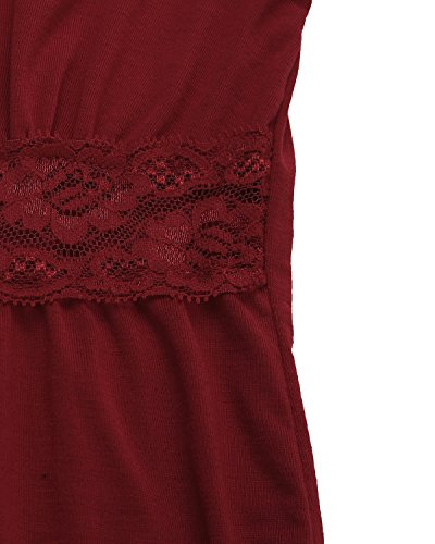Unknown - Camisas - Manga Larga - para mujer rojo vino