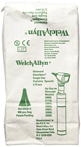 Welch Allyn Universal Kleenspec Pediatric Disposable Ear Specula for Diagnostic Otoscopes, 850 Count