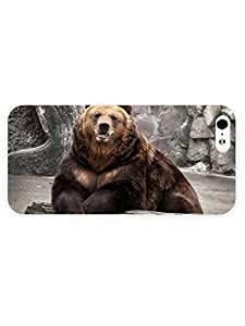 3d Full Wrap Case for iPhone 5/5s Animal Bear32