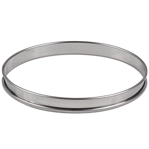 JB Prince Flan Ring - 8 inch - Stainless Steel ()