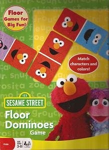 SESAME STREET Toddler Floor Dominoes Game ELMO & COOKIE MONSTER (28 Large Pieces)