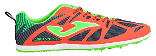Joma 6728 Spikes, Zapatillas de Atletismo Unisex Adulto Naranja (Coral-black)