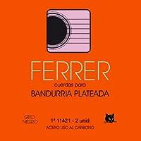 Juego de cuerdas para bandurria 12 cdas acero plateado Ferrer. Gato Negro