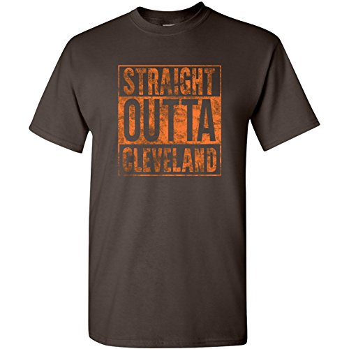 UGP Campus Apparel Straight Outta Cleveland T-Shirt - 2X-Large - Brown ()