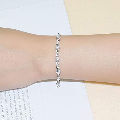 - European and American Jewelry Flowers Silver Jewelry Sansheng Peach Blossom Silver Bracelet Women's Hand Trim 925 Sterling Silver Bracelet