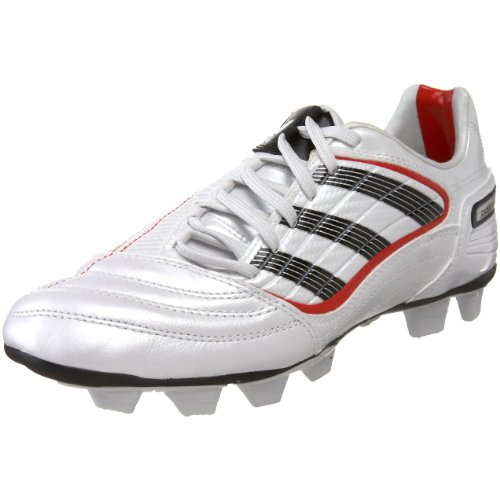 adidas Women's Predator Absolado X TRX Fg Soccer Cleat,Predator Running White Metallic/Black/Collegiate Red,5 M US