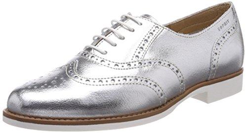 Plateado Lu Cordones Silver para de Zapatos Aida Mujer Met Oxford Esprit wq6TzSpna