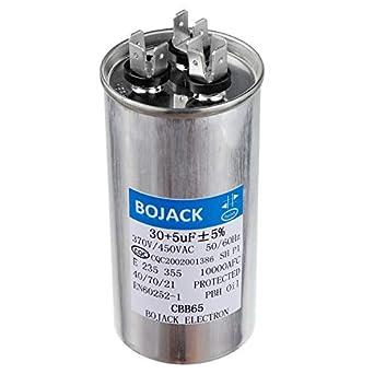 Amazon.com: BOJACK 30+5uF 30/5MFD ±5% 370V/440V CBB65 ...