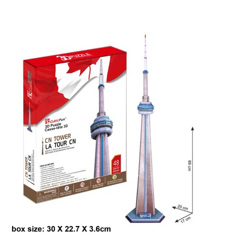 Canada's National CN Tower 3D Puzzle from Cubic Fun