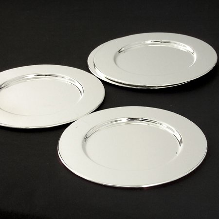 Godinger Silver Art Set OF 12 Silver Plated Bread And Butter (Godinger Silver Plated Plates)