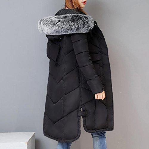 Espesar Warm Largo Women Abrigos de Abrigos Capucha Down Mujer Mujer jacket Cálido con Negro Casual Plumas FAMILIZO Chaquetas Pluma Chaquetas Abrigos Invierno De TXYqxII7R