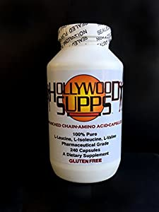 Hollywood Supps BCAA Capsules 100% Pure 3200mg