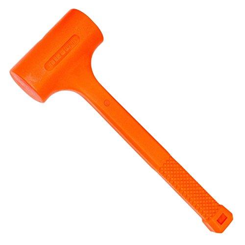 Hardware Machinery 68302 3.0 Lb. Neon Orange Dead Blow Hammer
