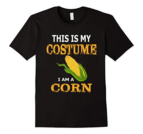 Mens This Is My Costume I'm Corn Awesome T-shirt 2XL Black - Occupation Costumes Ideas