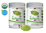 antioxidant Green superfood Powder - Organic Alfalfa Juice Powder - Alfalfa Leaf Powder Organic - 2 Cans 16 OZ (100 Servings)
