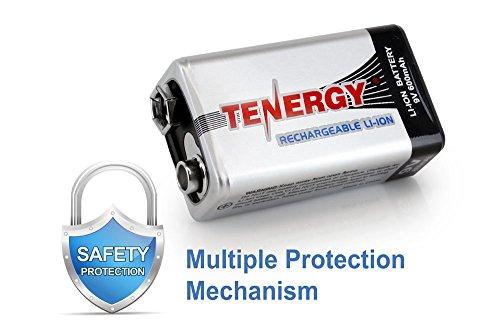 Combo: 10pcs Tenergy 9V 600mAh Li-ion Rechargeable Batteries Photo #3