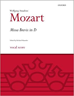 Missa Brevis in D K.194: Vocal score (Classic Choral Works)