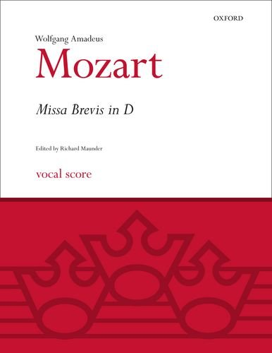 Read Online Missa Brevis in D K.194: Vocal score (Classic Choral Works) pdf epub