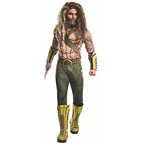 Rubieu0027s Mens Aquaman Adult Deluxe Costume Dawn of Justice Standard  sc 1 st  Amazon.com & Batman v Superman Suit: Amazon.com