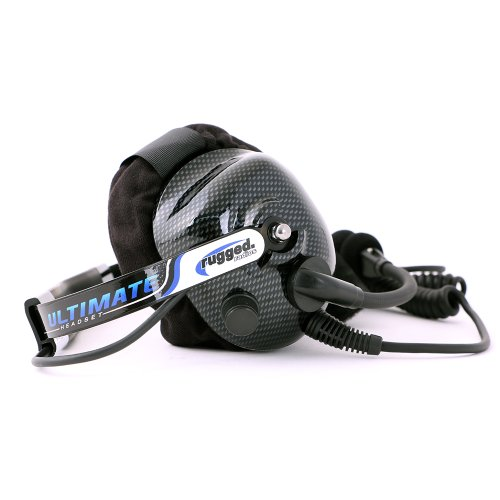 Rugged Radios H42-ULT Carbon Fiber Behind The Head Ultimate Headset with Gel Ear Seals, Cloth Ear Covers and Dynamic Noise Cancelling Microphone by Rugged Radios (Image #5)