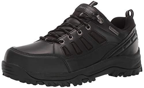 Skechers Men's RELMENT-SEMEGO Waterproof Hiker LO Hiking Shoe BBK 10H Wide US