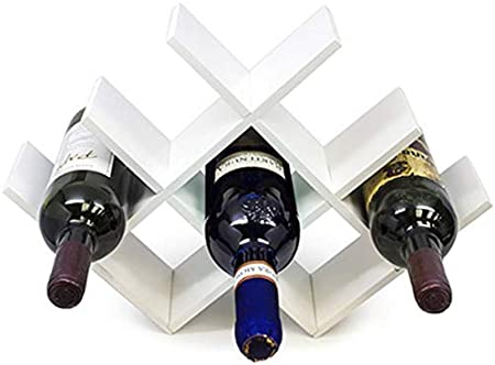XINYAN JIA Estante para Botellas De Vino Botelleros De Madera para Vino U Otras Bebidas Vinoteca De Madera para 8 Botellas Color Natural,B