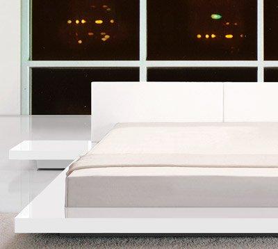 Designer Doppelbett Bett Hochglanz Weiss 180x200 Amazon De Kuche