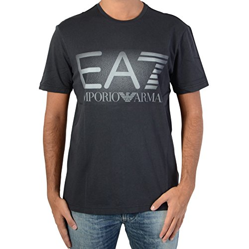 EA7+by+Emporio+Armani+6XPTC1+Web+Graphic+Black+T-Shirt+XL+Black