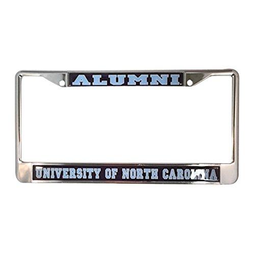 (University of North Carolina Alumni Tar Heels Silver Metal License Plate Frame)