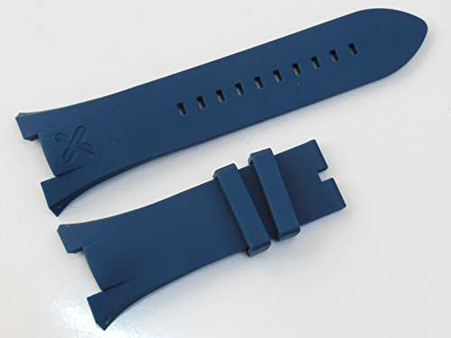 Navy Blue Rubber Diver Watch Strap Band For Ar. Exchange