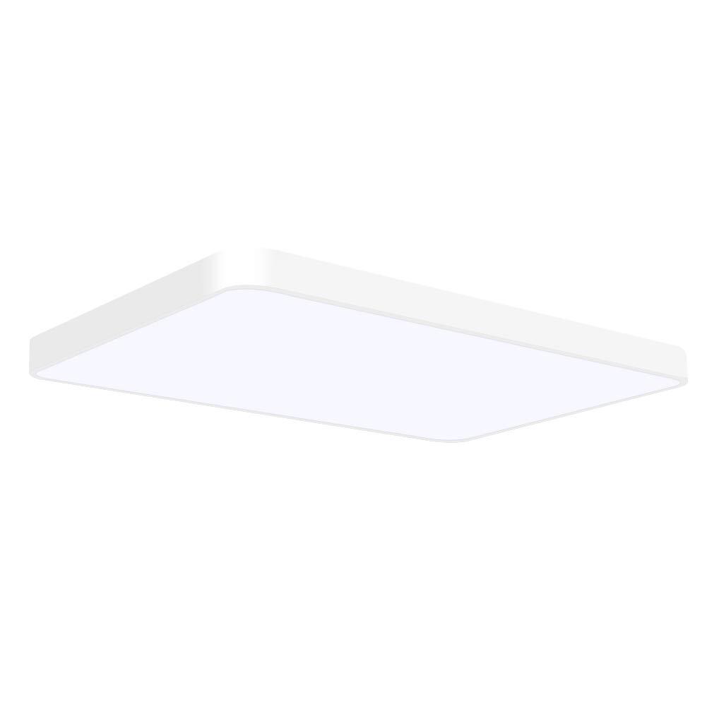Viugreum LED Flush Mount Ceiling Light, 72W 4320 Lumens Square Panel Light, 6000K (Daylight White) Downlights Lighting Fixture for Kitchen, Hallway, Bathroom, Stairwell