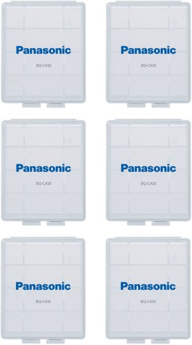 Panasonic BQ-CASE6SA Battery Storage Cases with 4AA or 5AAA Battery Capacity, 6 Pack