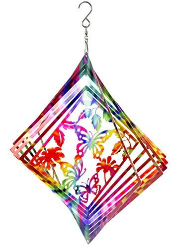 Metal Spinners - Dawhud Direct Kinetic 3D Butterfly Metal Garden Wind Spinner
