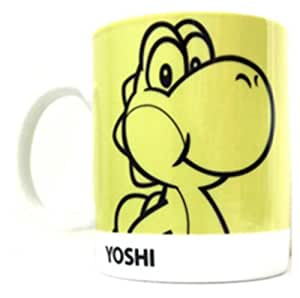 Super Mario de Nintendo taza Yoshi 2D-retro-diseño