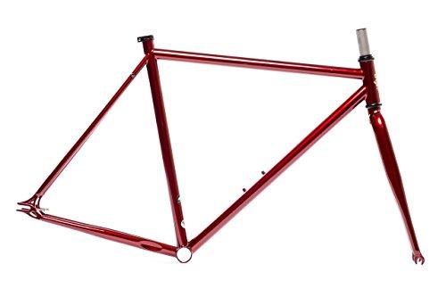 State Bicycle Fixed Gear/Fixie Single Speed Chromoly Frame (Ashton Crimson Red, 55cm) Fork Set