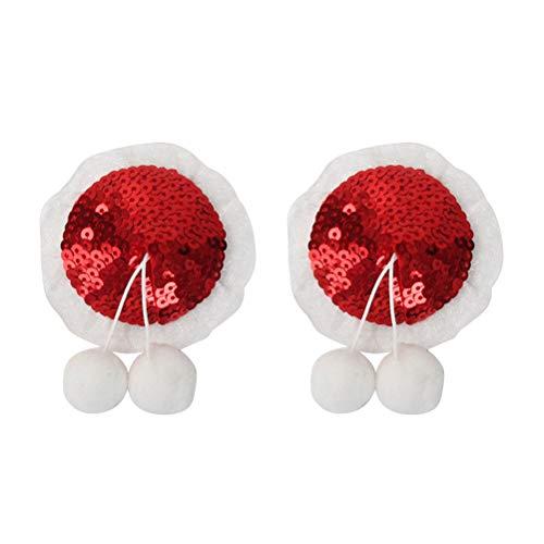 BESTOYARD Pezoneras para Mujer de Lentejuelas Reutilizables para Navidad con Bolas de Pom Pom: Amazon.es: Hogar