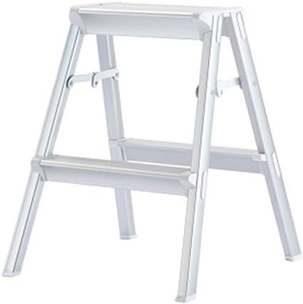 Shelves Escaleras Escalera Plegable heces Aluminio Grueso General Perfil Inicio Plegable de Disparo banquetas Decoración Stand de Almacenamiento (Color : Black, Size : 46 * 71 * 79cm): Amazon.es: Hogar