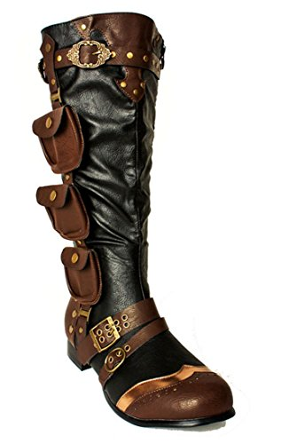 Military Steampunk Boots Renaissance Mens Cosplay Western Faire Warrior Combat YPqwf