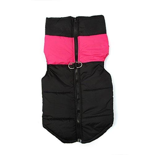 ZoonPark® Pet Dogs Winter Coat Jacket Apparel,Dog Cat Warm Soft Light Waterproof Coat Jacket Vest Harness Padded Puffer…