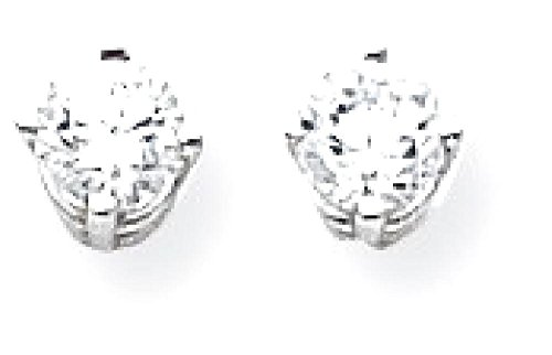 ICE CARATS 14k White Gold 4mm Cubic Zirconia Post Stud Ball Button Earrings Gemstone by ICE CARATS