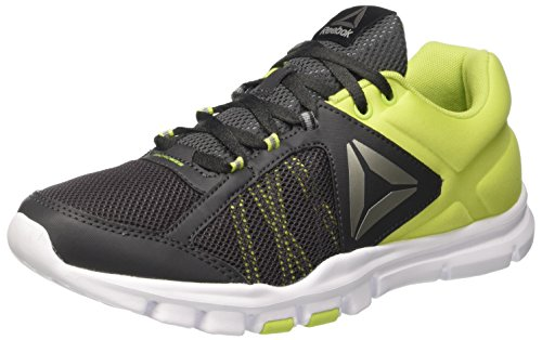 Reebok Herren Yourflex Train 9.0 Turnschuhe Grün (Coal/Green/Wht/Pwtr)